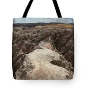 Dead End trail in Badland National Park South Dakota Tote Bag by Adam Long