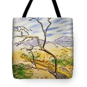 Death Valley- California Sketchbook Project Tote Bag by Irina Sztukowski
