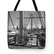 Deck Of Balclutha 3 Masted Schooner - San Francisco Tote Bag by Daniel Hagerman