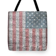 Declaration Of Independence Tote Bag by Dan Sproul