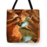 Deer Creek Slot Tote Bag by Inge Johnsson