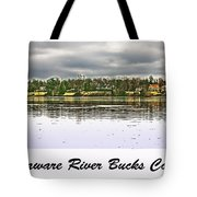 Delaware River Bucks County Tote Bag by Tom Gari Gallery-Three-Photography