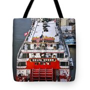 Delta Queen In Christmas Snow Tote Bag by Tom and Pat Cory