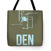 Den Denver Airport Poster 3 Tote Bag by Naxart Studio