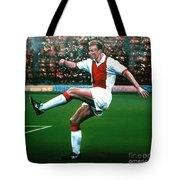 Dennis Bergkamp Ajax Tote Bag by Paul  Meijering