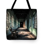 Dentists Chair In The Corridor Tote Bag by Gary Heller