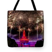Denver Co 4th Of July Fireworks Tote Bag by Teri Virbickis
