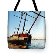 Derelict Faux Tall Ship Tote Bag by Trever Miller