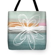 Desert Flower- Contemporary abstract flower painting Tote Bag by Linda Woods