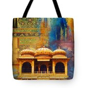 Detail Of Mohatta Palace Tote Bag by Catf