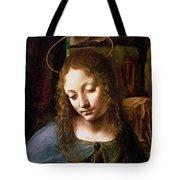 Detail Of The Head Of The Virgin Tote Bag by Leonardo Da Vinci