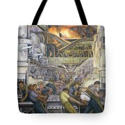 Detroit Industry  North Wall Tote Bag by Diego Rivera
