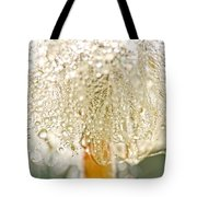 Dew Drops On Dandelion Tote Bag by Peggy Collins