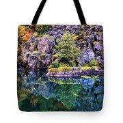 Diablo Lake Reflection Tote Bag by Benjamin Yeager