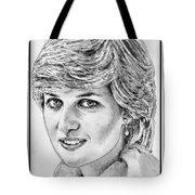 Diana - Princess Of Wales In 1981 Tote Bag by J McCombie