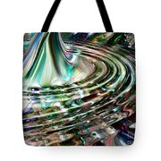 Digital Liquid Tote Bag by Cheryl Young