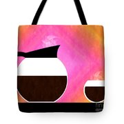 Diner Coffee Pot And Cup Sorbet Tote Bag by Andee Design