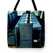 Dinner By The Sea Tote Bag by Georgia Fowler