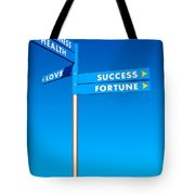 Directions To Goals Tote Bag by Carlos Caetano