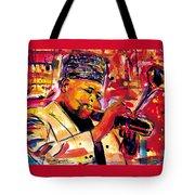 Dizzy Gillespie Tote Bag by Everett Spruill
