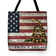 Do Not Tread On Us Flag Tote Bag by Daniel Hagerman