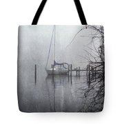 Docked In The Fog - Texture Effect Tote Bag by Brian Wallace
