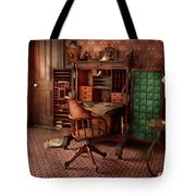 Doctor - Desk - The physician's office  Tote Bag by Mike Savad