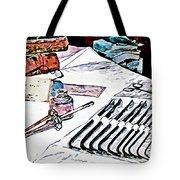 Doctor - Medical Instruments Tote Bag by Susan Savad