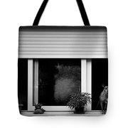 Dog In A Window Tote Bag by Fabrizio Troiani