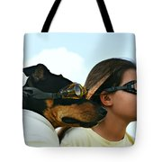 Dog Is My Co-pilot Tote Bag by Laura  Fasulo
