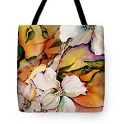 Dogwood In Spring Colors Tote Bag by Lil Taylor