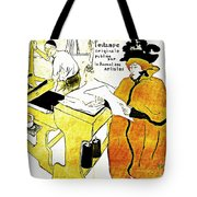 Domain-Le Stamp Tote Bag by Michael Braham