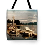 Domino At Alderbrook On Hood Canal Tote Bag by Jack Pumphrey