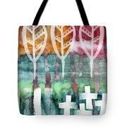 Done Too Soon Tote Bag by Linda Woods