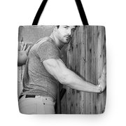 Dont Fence Me In Bw Tote Bag by William Dey