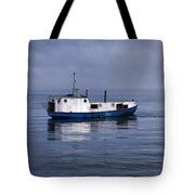 Door County Gills Rock Trawler Tote Bag by Christopher Arndt