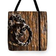 Door Knocker Tote Bag by Heather Applegate