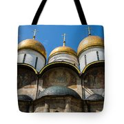 Dormition Cathedral - Square Tote Bag by Alexander Senin
