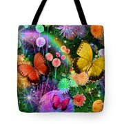 Double Dahlia Flower Party Tote Bag by Alixandra Mullins