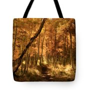 Down The Golden Path Tote Bag by Donna Kennedy