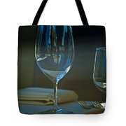 Downtown Dining Tote Bag by Christi Kraft