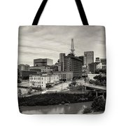 Downtown Houston From Uh-d Tote Bag by Silvio Ligutti