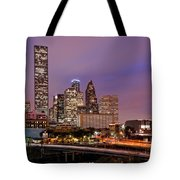 Downtown Houston Texas Skyline Beating Heart Of A Bustling City Tote Bag by Silvio Ligutti