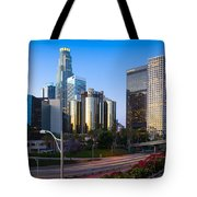 Downtown L.a. Tote Bag by Inge Johnsson