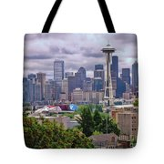 Downtown Seattle From Kerry Park Tote Bag by Allen Beatty