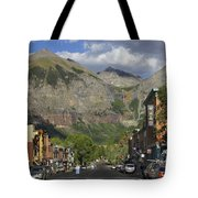 Downtown Telluride Colorado Tote Bag by Mike McGlothlen