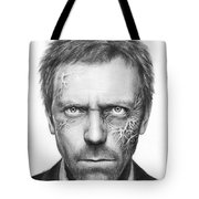Dr. Gregory House - House Md Tote Bag by Olga Shvartsur