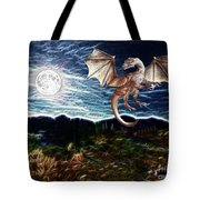 Dragon Night Tote Bag by Methune Hively