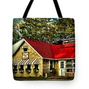 Drake's Inn On Seventh Lake Tote Bag by David Patterson