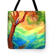 Dreaming Of Bluebells Tote Bag by Jane Small